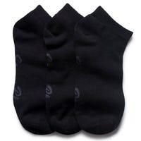 Storm Bloc Womens Cotton Trainer Socks in Black Size 4-8 3 Pack
