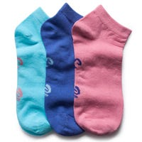 Storm Bloc Womens Cotton Trainer Socks in Pastel Size 4-8 3 Pack