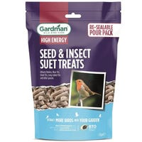 Gardman Seed and Insect Suet Treats for Wild Birds 1.1kg