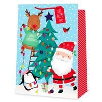Christmas Tree and Characters Super Jumbo Gift Bag