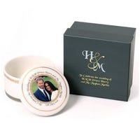 Royal Wedding Trinket Box New Bone China
