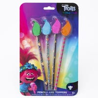 Trolls 2 Pencil with Topper 4 Pack