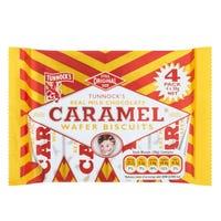 Tunnocks Caramel Milk Chocolate Wafers 4 Pack