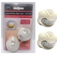 Masterplug Directional Night Light Twin Pack