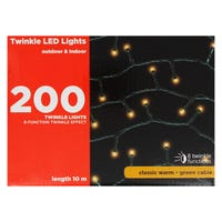 Twinkle LED Lights in Classic Warm 200 Pack