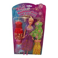 Fashion Doll with 4 Dresses