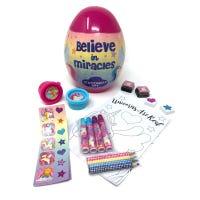 Unicorn Egg Shaped Stationery Set