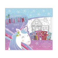 Large Christmas Colouring and Sticker Activity Unicorn