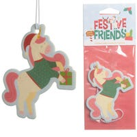 Christmas Unicorn Festive Friends Cookie Air Freshener