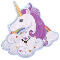 Unicorn Rainbow Shaped Picture Clock