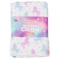 Microfibre Cloths Unicorns 4 Pack