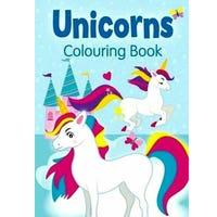 Unicorns Colouring Book Blue