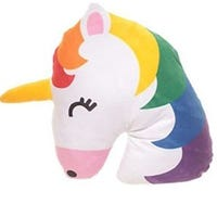 Emotive Plush Cushion Rainbow Unicorn