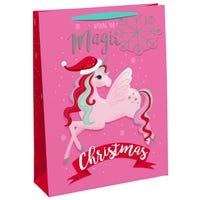 Christmas Unicorn Large Gift Bag