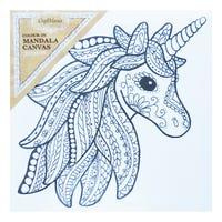 Craft Mania Colour In Mandala Canvas Pretty Unicorn