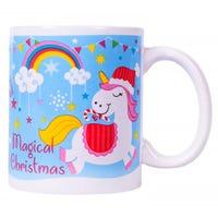 Magical Christmas Unicorn Novelty Mug