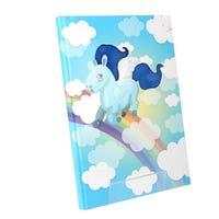 A4 Textured Hardback Notebook Unicorn Blue