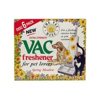 Vac Freshener Discs Extra Strength For Pet Lovers Spring Meadow 6 Pack