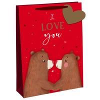 Valentines Bear Gift Bag in Medium