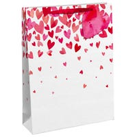 Valentines Falling Hearts Gift Bag in Large