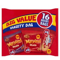 Burton's Big Value Variety Pack Maryland Mini and Mini Jammie Dodgers 16 pack
