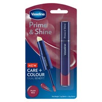 Vaseline Prime and Shine 2-in-1 Lip Balm and Gloss in Plum Red