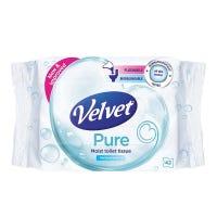 Velvet Moist Toilet Tissue Wipes 42 Pack