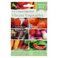 Speedy Seeds 6 in 1 Vibrant Vegetables Seed Collection