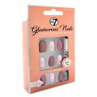 W7 Glamorous Stick on Nails in Pretty Peony