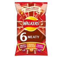 Walkers Meaty Multipack 6 Pack