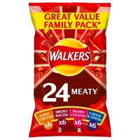 Walkers Meaty Variety Crisps 24 Pack