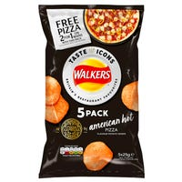 Walkers Pizza Express American Hot Pizza 5 Pack