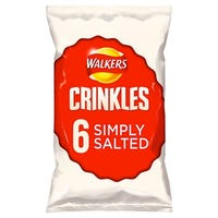 Walkers Crinkles Simply Salted 6 Pack