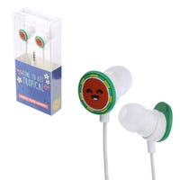Time to Get Tropical Novelty Shaped Earphones Watermelon