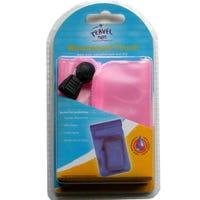 Travel Waterproof Pouch Pink 22x10cm