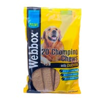 Webbox Chomping Chews Chicken Flavour 20 Pack