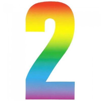 Wheelie Bin Rainbow Number 2