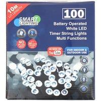 White LED Timer String Lights 10m