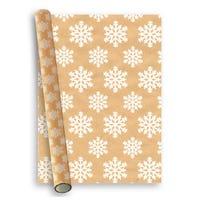 Christmas Premium Gift Wrap White Snowflake 2m