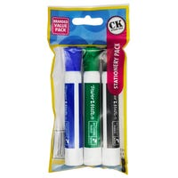 Whiteboard Bullet Tip Markers 3 Pack Assorted
