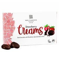 Whitakers Luxury Strawberry Dark Chocolate Cremes 100g
