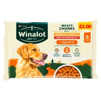 Winalot Meaty Chunks in Gravy Pouches 3 Pack