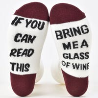 Ladies Funky Socks If You Can Read This Bring Me A Glass Of Wine