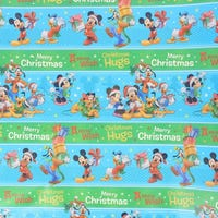 Christmas Gift Wrap Disney Mickey Blue and Green 6m