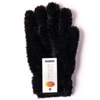 Ladies Feather Touch Gloves Black