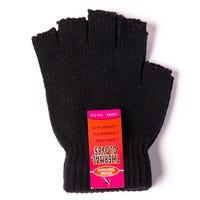 Ladies Thermal Fingerless Gloves Black