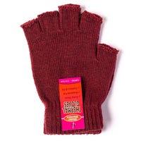 Ladies Thermal Fingerless Gloves Red