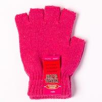 Ladies Thermal Fingerless Gloves Rosy