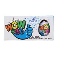 Wow Blue Chocolate Egg 3 Pack