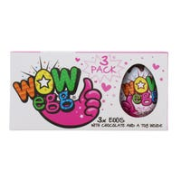 Wow Pink Chocolate Egg 3 Pack